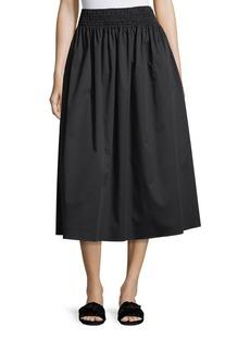 THE ROW Betsy Full Poplin Long Skirt
