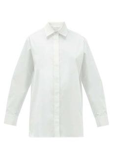 The Row Big Sisea cotton-blend poplin shirt