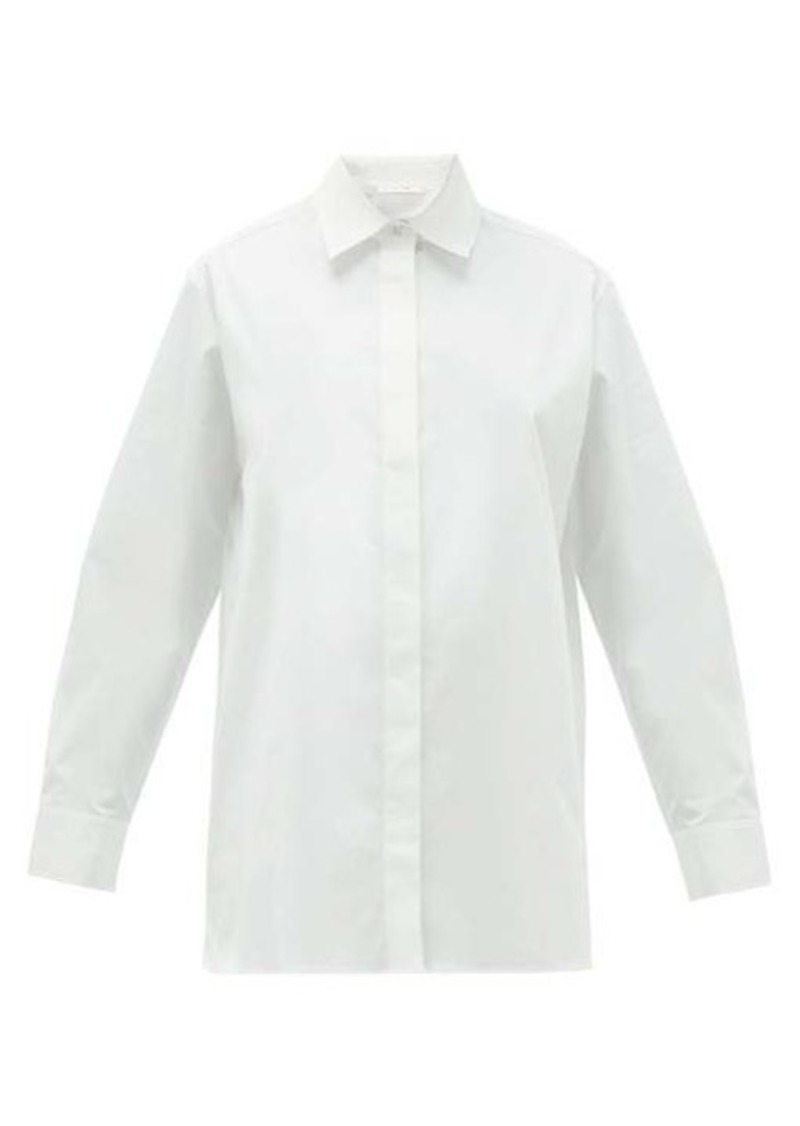 The Row Big Sisea cotton-blend poplin shirt