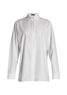 The Row Big Sisea cotton-twill shirt