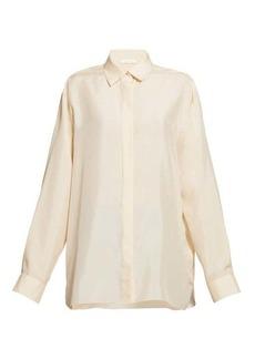 The Row Big Sisea silk-habotai shirt