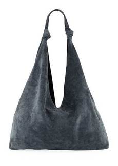 507218b466db The Row THE ROW Sling 15 Fringe-Trim Suede Hobo Bag