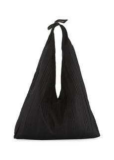 The Row Bindle Pleated Silk Mesh Hobo Bag