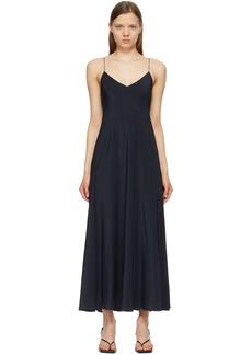 The Row Black Silk Edi Dress