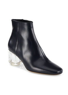 The Row Bowin Lucite Heel Leather Booties