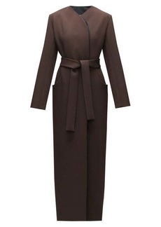 The Row Brie waist-tie double-lapel wool-blend coat