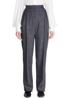 THE ROW Brina High-Waist Tapered-Leg Wool-Blend Pants