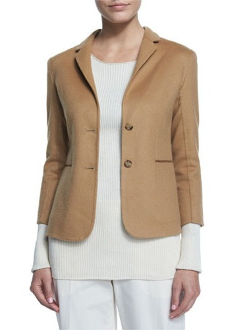 THE ROW Button-Front Fitted Jacket