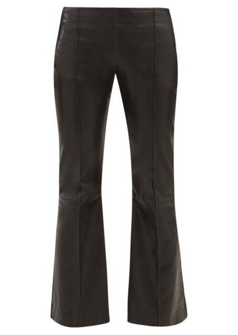 The Row Cabet leather kick-flare trousers