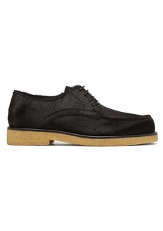 The Row Calf-hair leather Derby shoes