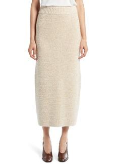 The Row Caluso Cashmere & Silk Knit Midi Skirt