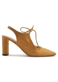 The Row Camil suede slingback pumps