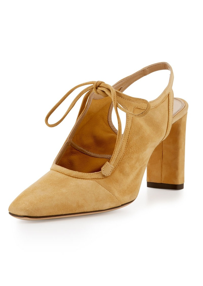 72ad60b6c8b SALE! The Row THE ROW Camil Suede Tie-Front Pump