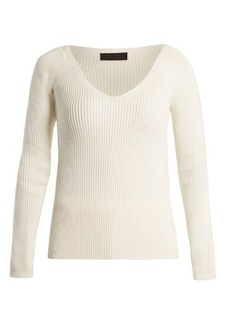 The Row Candice V-neck wool sweater