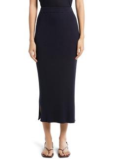 The Row Cannia Shiny Rib Midi Skirt