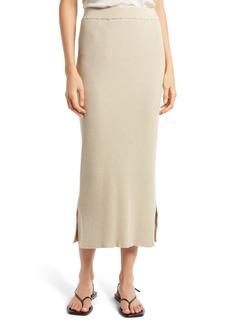 The Row Cannia Silk & Cotton Rib Midi Skirt