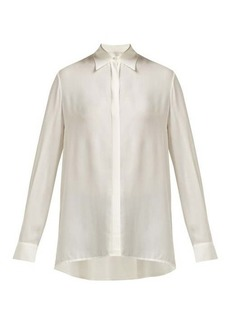 The Row Carla long-sleeved chiffon shirt