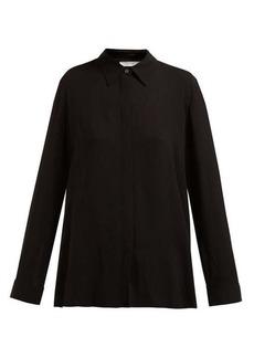 The Row Carla long-sleeved twill shirt