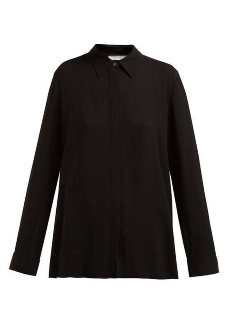 The Row Carla long-sleeved twill shirt