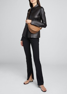 THE ROW Carlotta Jersey Slit-Leg Pants