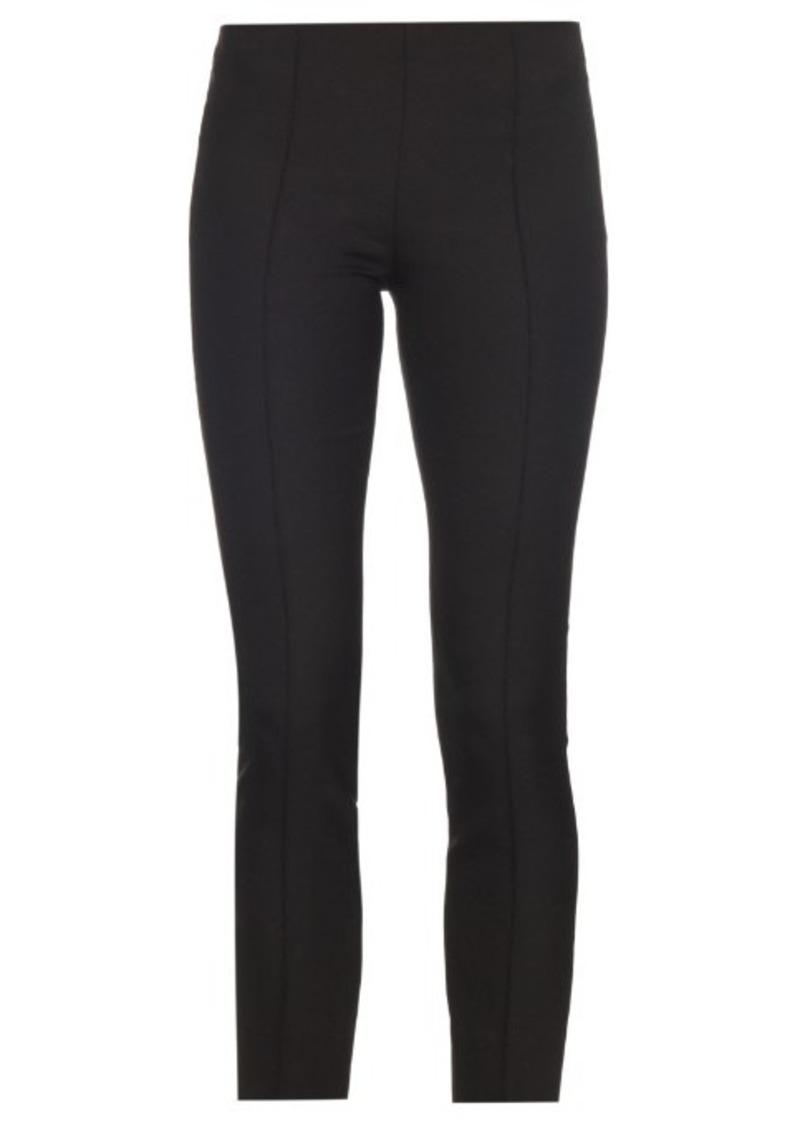 The Row Caro slim-leg cotton and silk-blend trousers