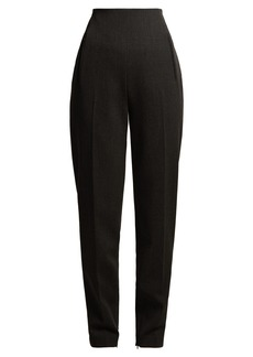 The Row Cat high-rise stretch-wool trousers