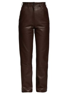 The Row Charlee high-rise leather trousers