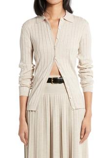 The Row Chicco Wool & Silk Rib Sweater
