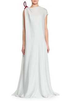 The Row Cilida High-Neck A-Line Evening Gown with Rope Detail