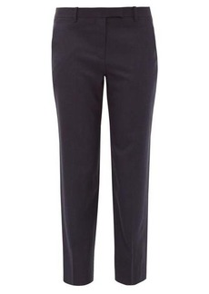 The Row Clark cropped wool-twill trousers