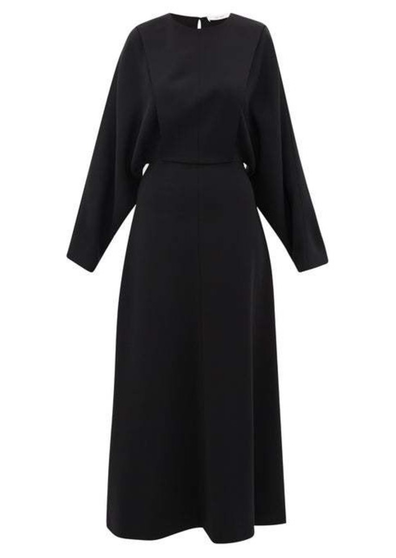 The Row Cobai panelled silk and crepe maxi dress