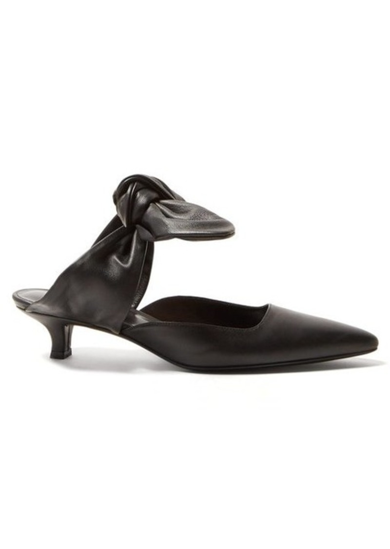 The Row Coco leather kitten-heel mules