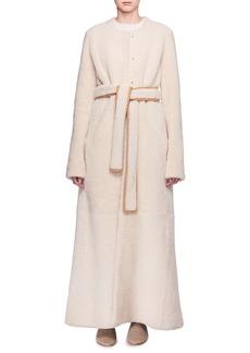 THE ROW Creyton Snap-Front Belted Lamb Shearling Coat