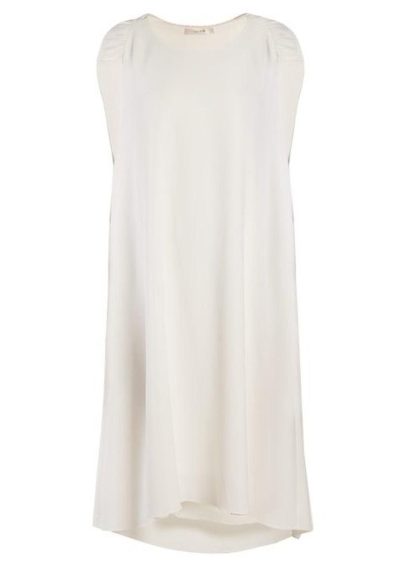 The Row Dada ruched-shoulder cady dress