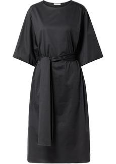 The Row Dalun Cotton-blend Poplin Midi Dress