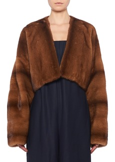 THE ROW Dan Cropped Mink Fur Jacket