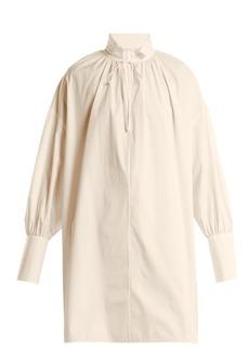 The Row Darma point-collar silk-poplin shirt