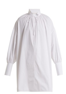 The Row Darma tie-neck cotton-poplin shirt