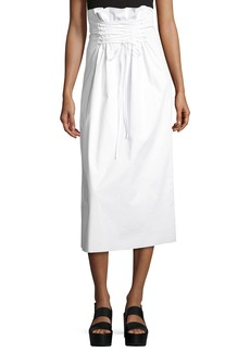 THE ROW Daul Paperbag-Waist Midi Skirt