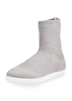 The Row Dean Knit Cashmere Sock Bootie