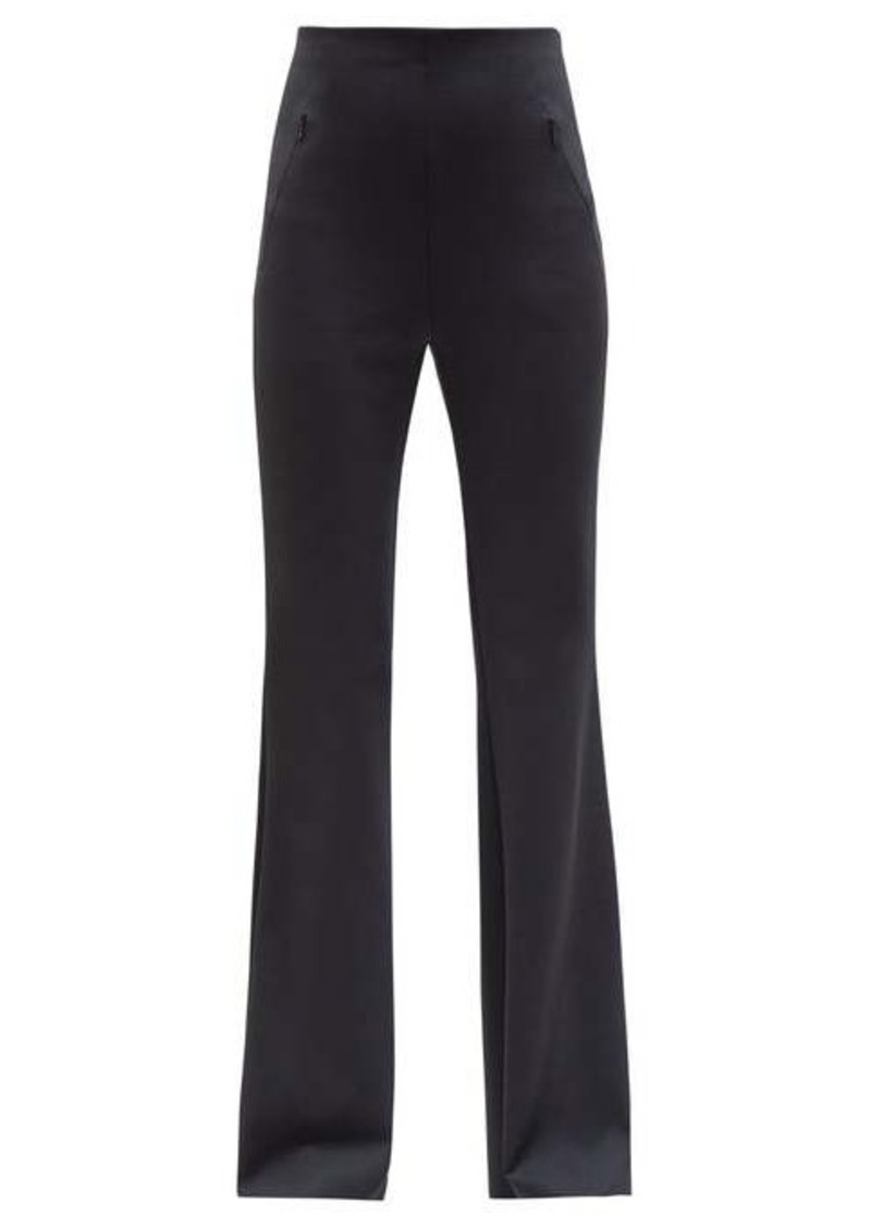 The Row Delon high-rise scuba-jersey flared trousers