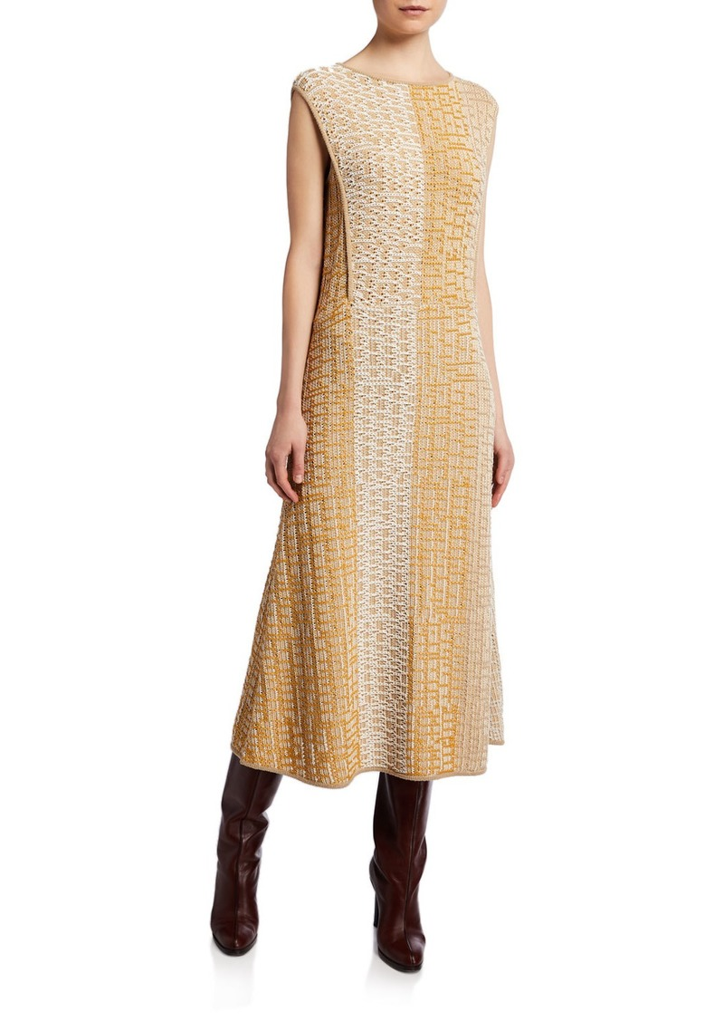 THE ROW Dembe Patchwork Cotton Sleeveless Dress