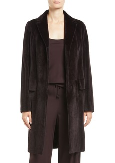 THE ROW Doman Notched-Lapel Hook-Front Mink Fur Jacket