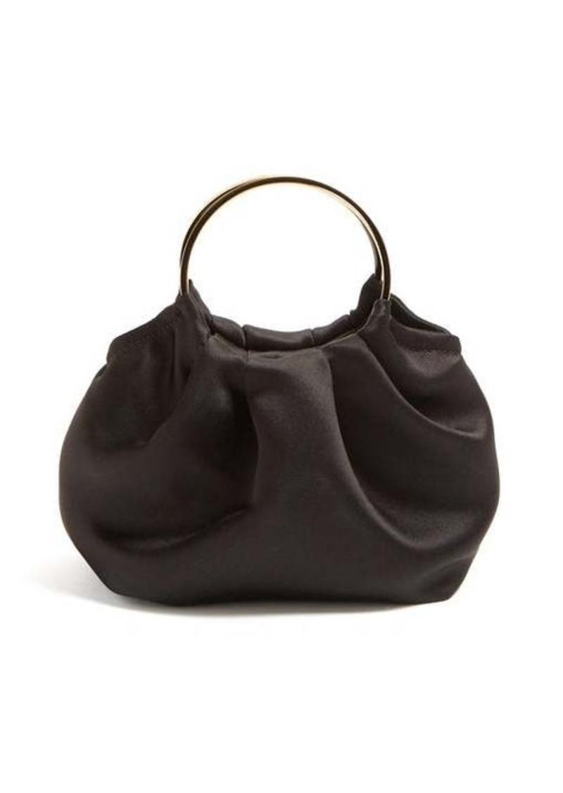 The Row Double Circle mini silk-satin bag