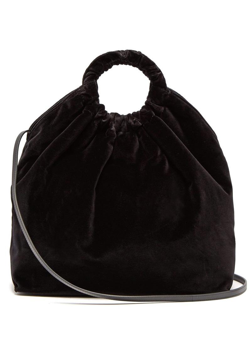 4ff2a1c2ce0fe The Row The Row Double Circle XL velvet bag