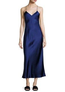 THE ROW Double-Face Silk Cami Gown
