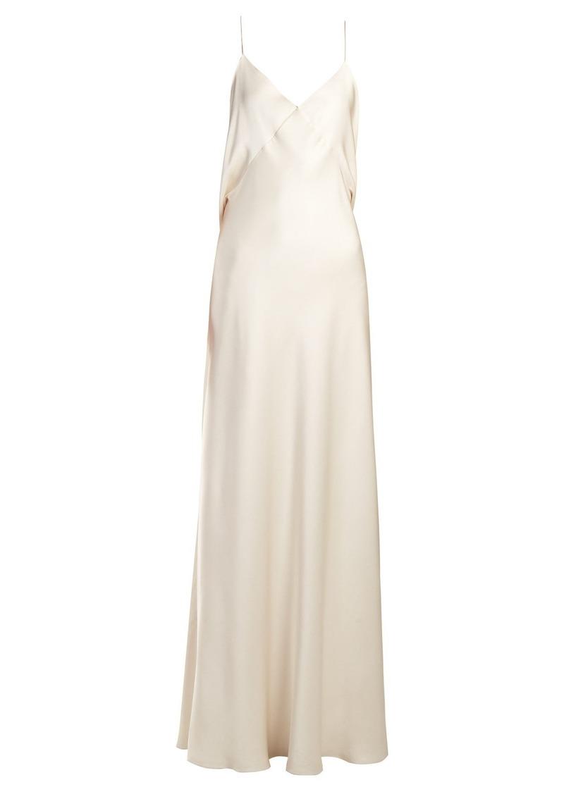 4f968262f9ed The Row The Row Draped-back silk slip gown | Dresses