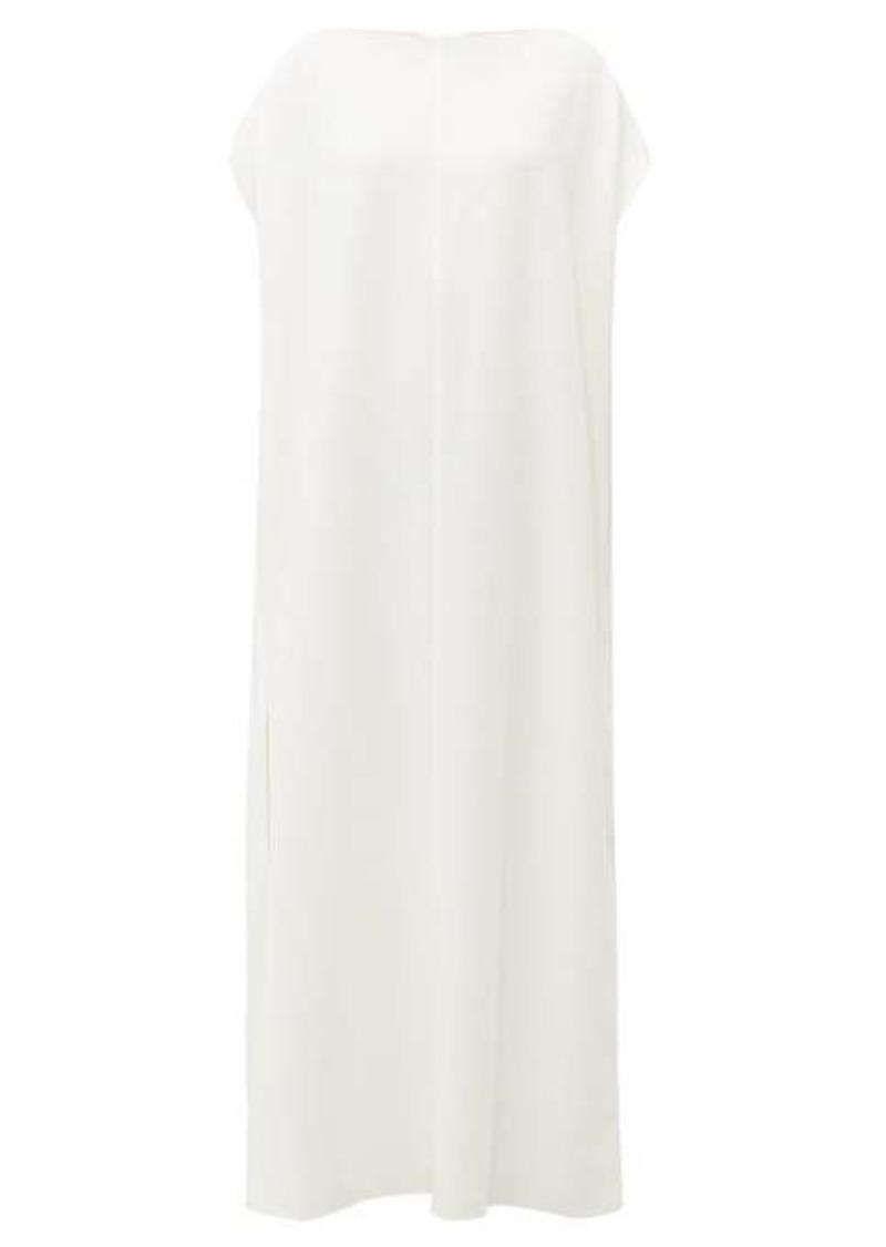 The Row Dunika slit-hem crepe dress
