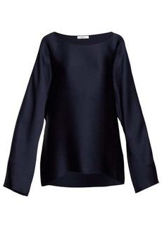 The Row Dylia satin blouse