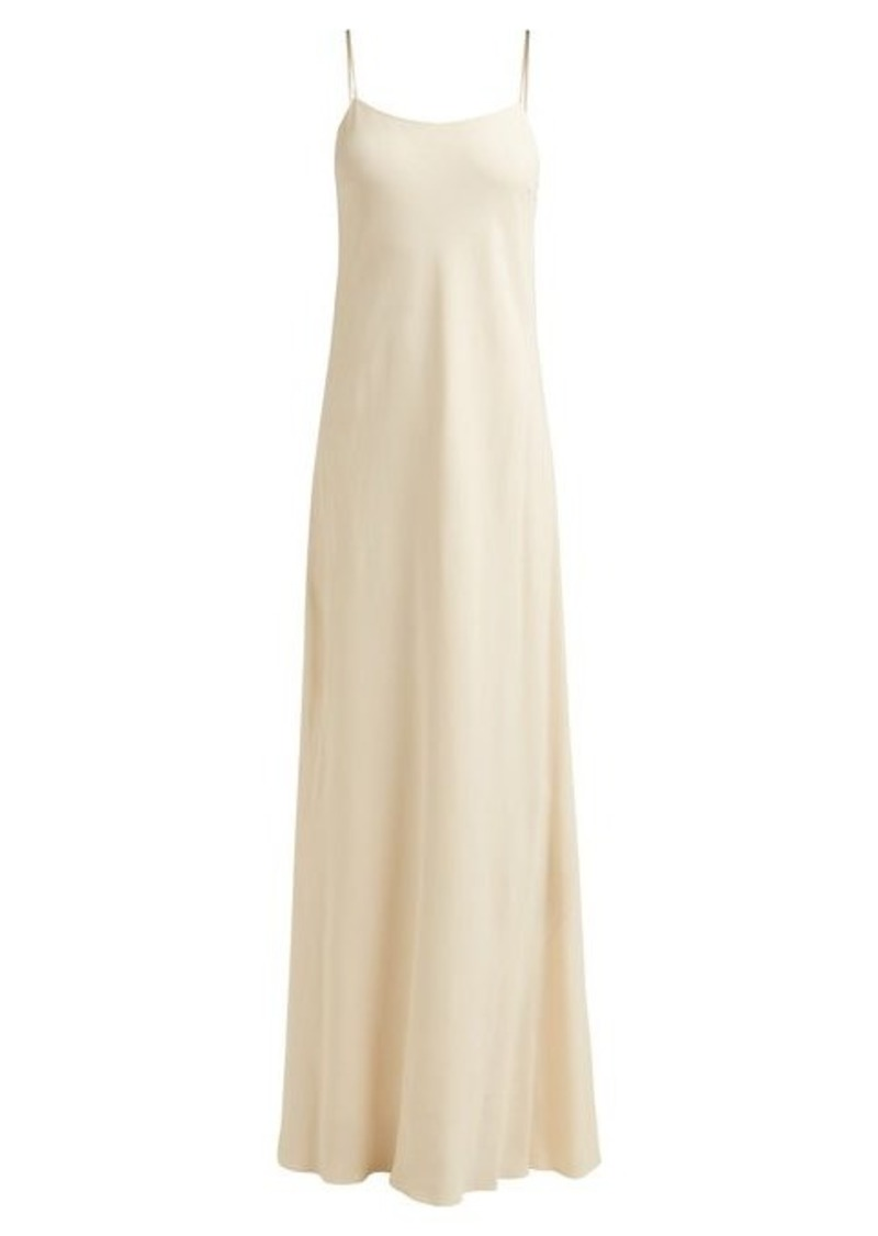 The Row Ebbins bias-cut crepe dress